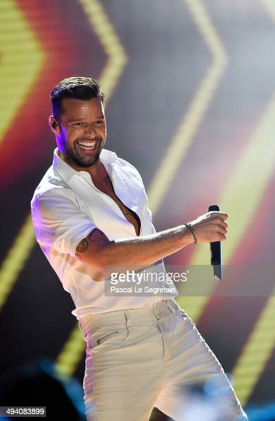 Ricky Martin performs during the ceremony of the World Music Awards 2014 at Sporting MonteCarlo on May 27 2014 in MonteCarlo Monaco