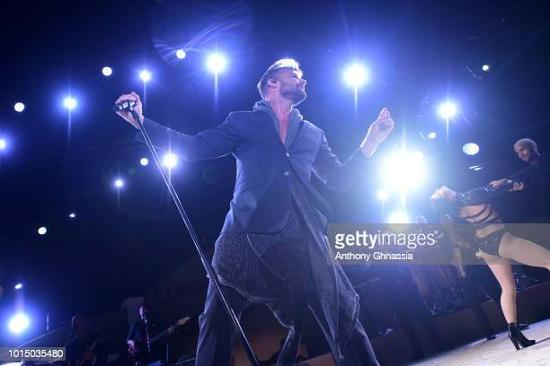 Ricky Martin performs during the Unicef Summer Gala Presented by Luisaviaroma dinner at Villa Violina on August 10 2018 in Porto Cervo Italy