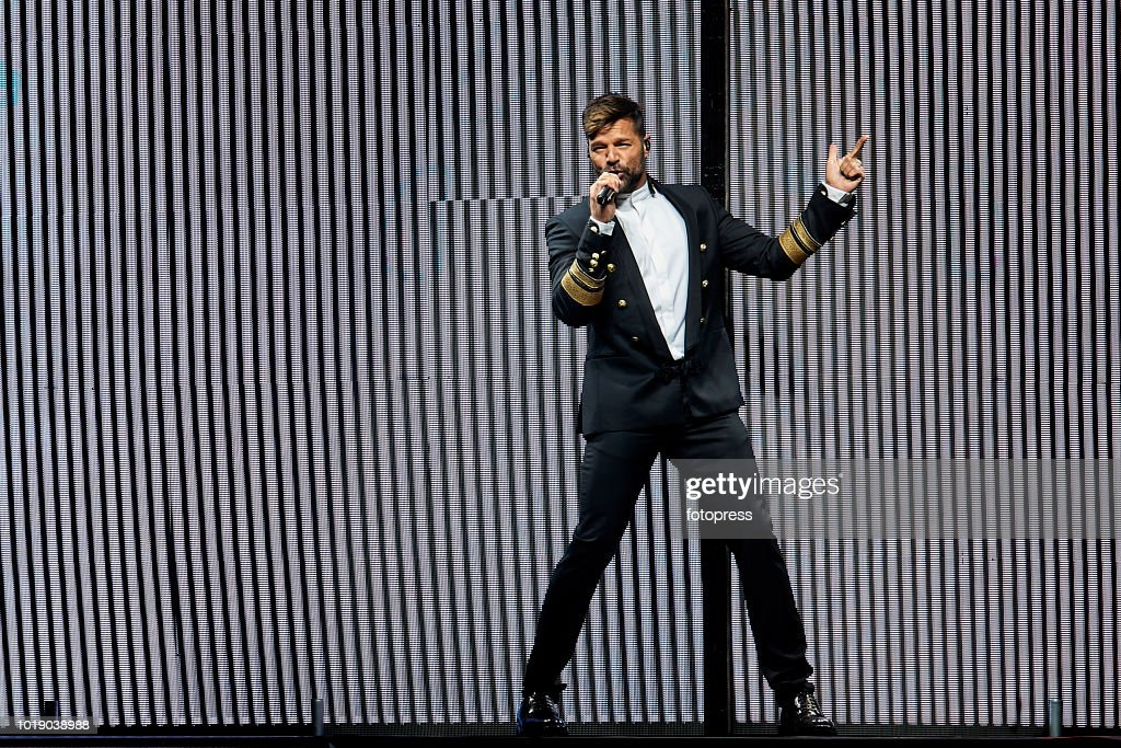 Ricky Martin Performs in Concert in Santiago de Compostela