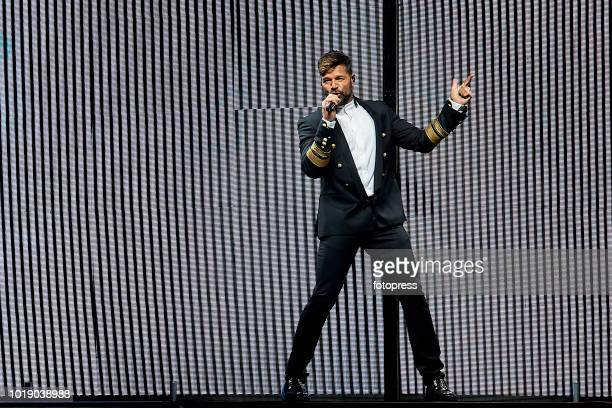 Ricky Martin performs in concert at Monte do Gozo on August 18 2018 in Santiago de Compostela Spain