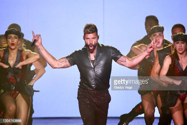 "Ricky Martin performs in concert during his ""Movimiento"" tour at Coliseo Jose Miguel Agrelot on February 7, 2020 in San Juan, Puerto Rico."