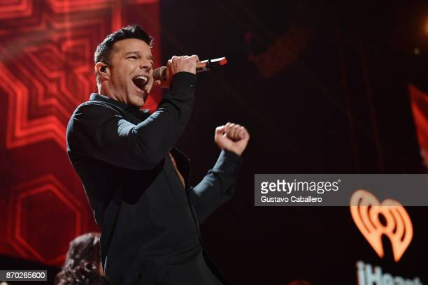 Ricky Martin performs onstage during the iHeartRadio Fiesta Latina: Celebrating Our Heroes at American Airlines Arena on November 4, 2017 in Miami,...