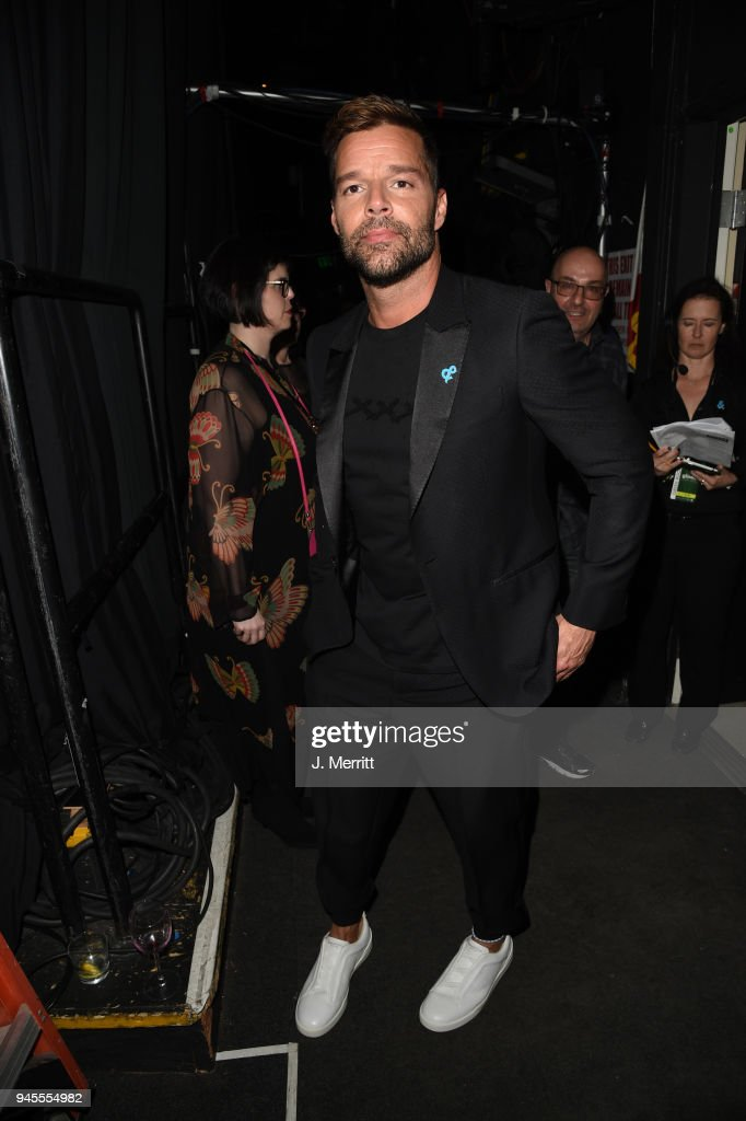 Ricky Martin poses backstage at the 29th Annual GLAAD Media Awards at The Beverly Hilton Hotel on April 12, 2018 in Beverly Hills, California.