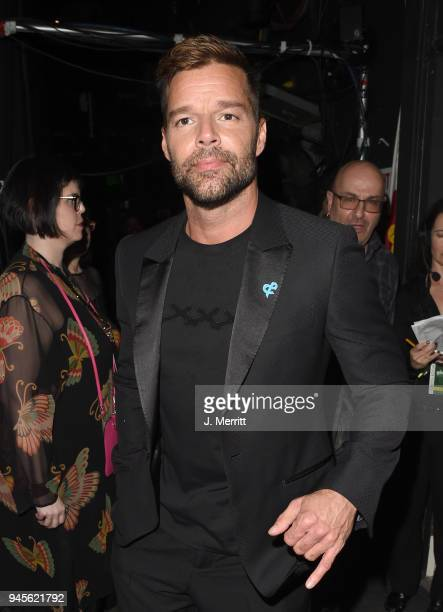 Ricky Martin poses backstage at the 29th Annual GLAAD Media Awards at The Beverly Hilton Hotel on April 12 2018 in Beverly Hills California