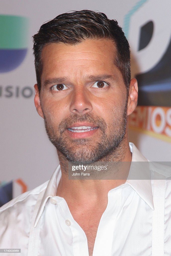 Ricky Martin poses in the press room during the Premio Juventud 2013 at Bank United Center on July 18, 2013 in Miami, Florida.