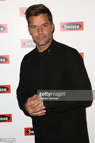 Ricky Martin poses on the red carpet prior to a private concert at The Palms at Crown on May 6 2015 in Melbourne Australia