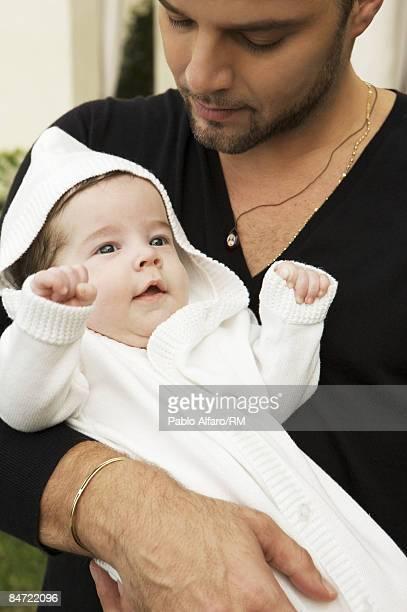 Ricky Martin poses with his son Valentino Martin on November 12, 2008 in Miami, Florida.