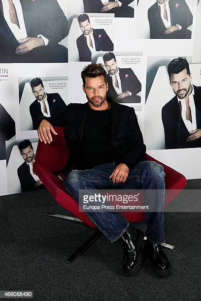 Ricky Martin presents the deluxe edition of his new album 'A quien quiera escuchar' on March 12 2015 in Madrid Spain