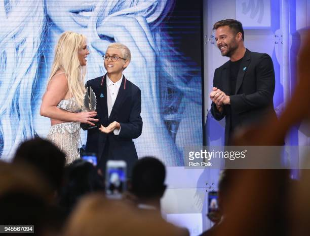 Ricky Martin presents Vanguard Award to artist Britney Spears at the 29th Annual GLAAD Media Awards Los Angeles in partnership with LGBTQ ally Ketel...