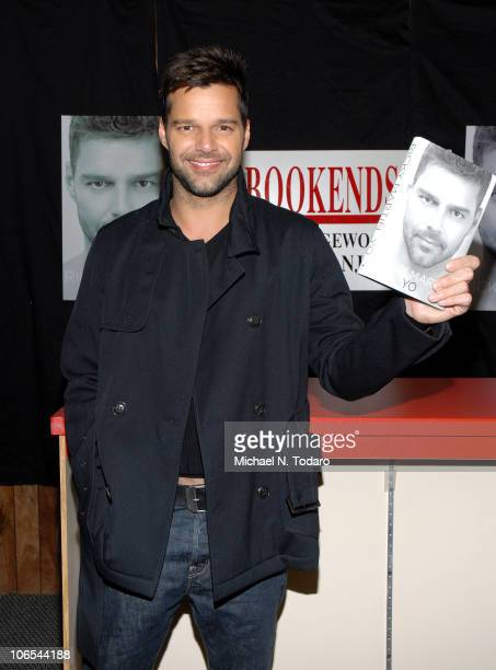 """Ricky Martin promotes his new book """"ME"""" at Bookends on November 4, 2010 in Ridgewood, City."""