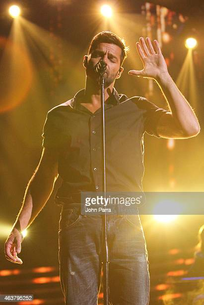 Ricky Martin rehearses for the 2015 Premios Lo Nuestros Awards at American Airlines Arena on February 18 2015 in Miami Florida