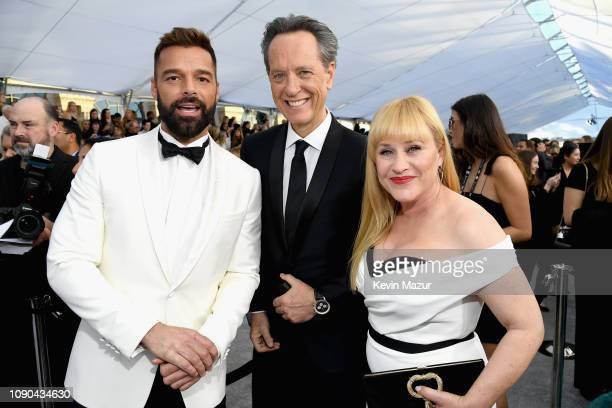 Ricky Martin Richard E Grant and Patricia Arquette attend the 25th Annual Screen ActorsGuild Awards at The Shrine Auditorium on January 27 2019 in...