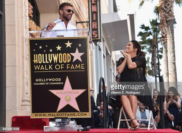 Ricky Martin speaks as Eva Longoria is honored with star on The Hollywood Walk of Fame on April 16 2018 in Hollywood California