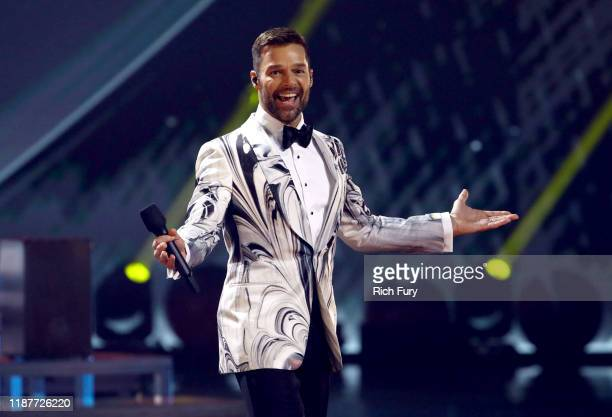 Ricky Martin speaks onstage during the 20th annual Latin GRAMMY Awards at MGM Grand Garden Arena on November 14, 2019 in Las Vegas, Nevada.