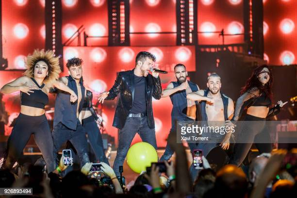 Ricky Merino of OT 2017 performs on stage during the 'Operacion Triunfo' concert at Palau Sant Jordi on March 3 2018 in Barcelona Spain