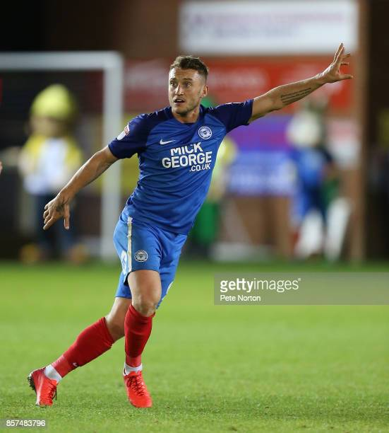 Ricky Miller of Peterborough United in action during the Checkatrade Trophy match between Peterborough United and Northampton Town at The Abax...