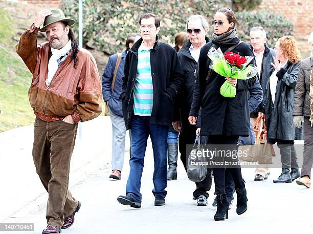 Ricky Morales Antonio Morales Junior and Shaila Durcal attend the funeral for Carmen Barretto Valdes who died at 97 years old at La Almudena...
