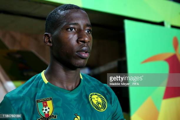 Ricky Ngatchou of Cameroon exits the tunnel during the FIFA U-17 World Cup Brazil 2019 group E match between Cameroon and Argentina at Estádio Kléber...