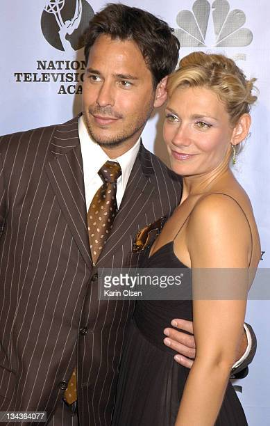 Ricky Paul Goldin and Beth Ehlers during 31st Annual Daytime Emmy Awards Pressroom at Radio City Music Hall in New York City New York United States
