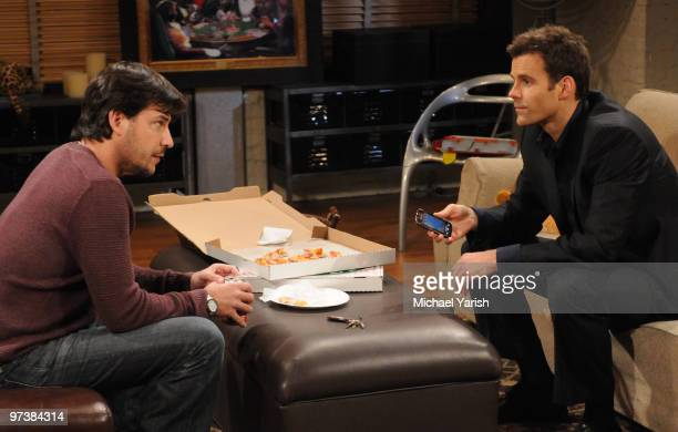 CHILDREN Ricky Paull Goldin and Cameron Mathison in a scene that airs the week of March 8 2010 on ABC Daytime's 'All My Children' 'All My Children'...