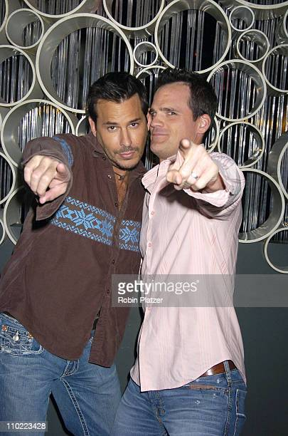 Ricky Paull Goldin and Michael Park during Party for The Hot Men of CBS Guiding Light and As The World Turns which was filmed for David Tuteras...