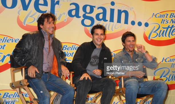 Ricky Paull Goldin Jason Cook and Greg Vaughan during Soap Stars Competing to be The New Spokesman for I Can't Believe Its Not Butter June 7 2006 at...