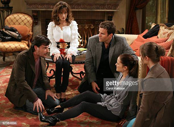 CHILDREN Ricky Paull Goldin Susan Lucci Cameron Mathison Rebecca Budig and Anna Koonin in a scene that airs the week of March 1 2010 on ABC Daytime's...
