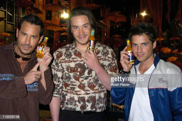 Ricky Paull Goldin Tom Pelphrey and Scott Bailey during Party for The Hot Men of CBS Guiding Light and As The World Turns which was filmed for David...