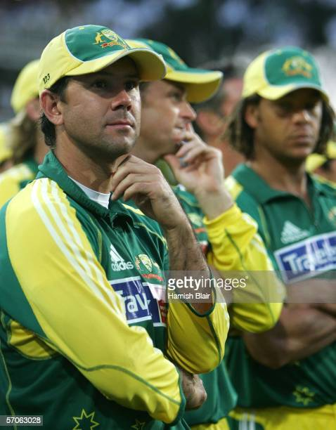 Ricky Ponting captain of Australia looks on during the fifth One Day International between South Africa and Australia played at Wanderers Stadium on...