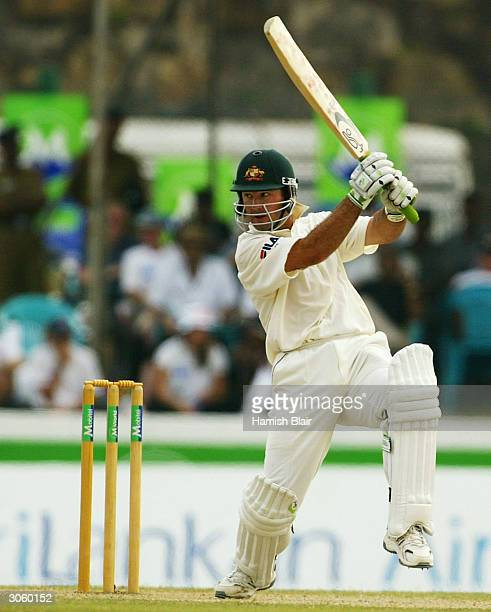 Ricky Ponting of Australia in action during day three of the First Test between Australia and Sri Lanka played at the Galle International Cricket...
