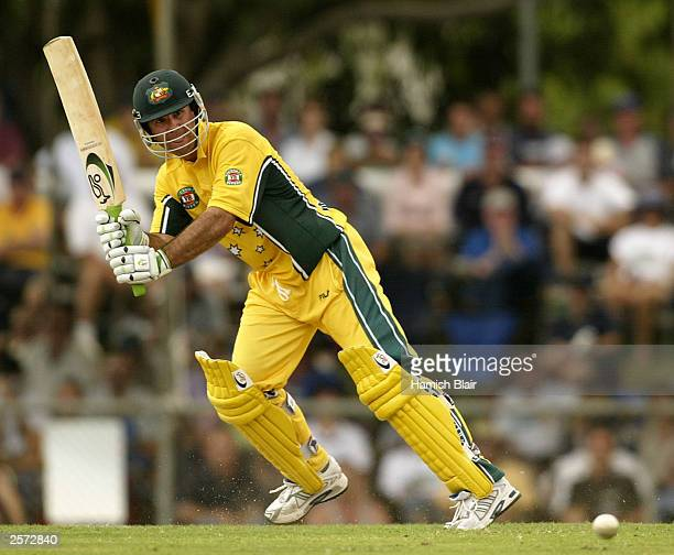 Ricky Ponting of Australia in action during the 3rd One Day International between Australia and Bangladesh played at Marrara Oval on August 6, 2003...