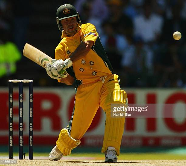 Ricky Ponting of Australia in action during the World Cup Final One Day International Match between Australia and India played at the Wanderers...