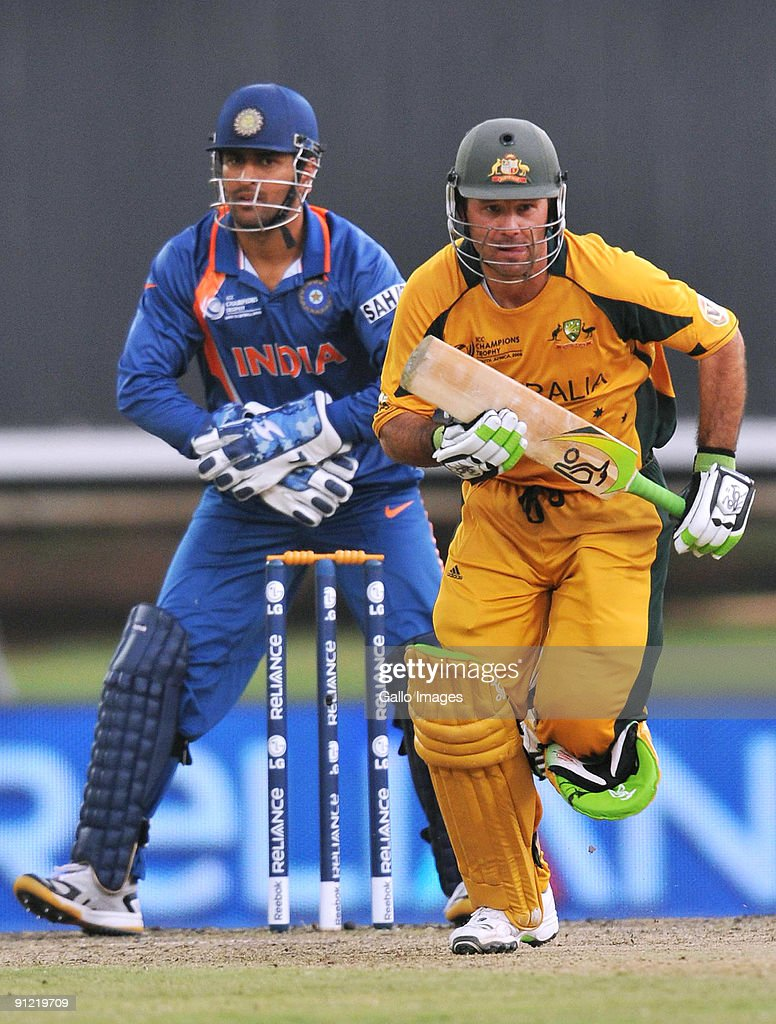 Ricky Ponting Of Australia Runs A Single During The ICC Champions Trophy Match Between And