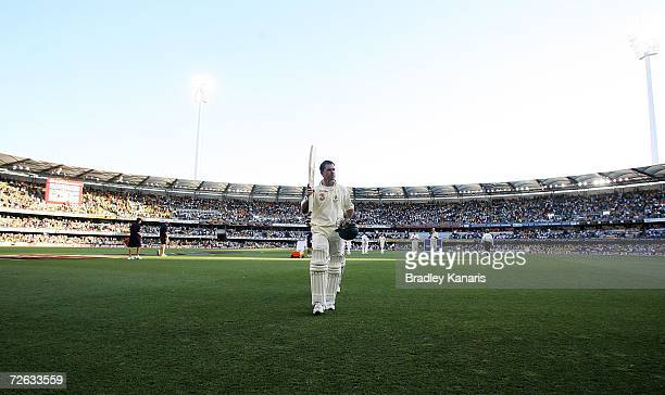Ricky Ponting of Australia walks off the field at the end of play on day one of the first Ashes Test Match between Australia and England at The Gabba...