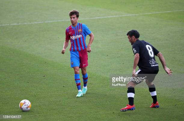 Ricky Puig and Del Campo during the friendly match between FC Barcelona and Club Gimnastic de Tarragona, played at the Johan Cruyff Stadium on 21th...