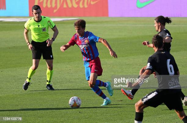 Ricky Puig during the friendly match between FC Barcelona and Club Gimnastic de Tarragona, played at the Johan Cruyff Stadium on 21th July 2021, in...