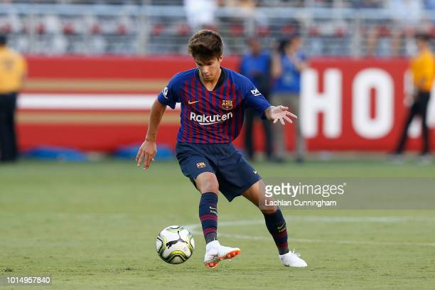 Ricky Puig of FC Barcelona controls the ball during the International Champions Cup match against AC Milan at Levi's Stadium on August 4 2018 in...