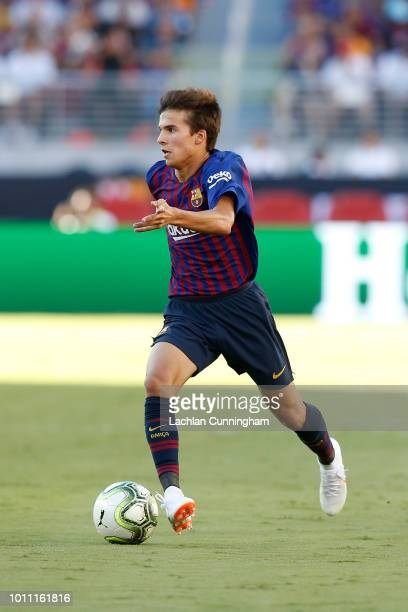 Ricky Puig of FC Barcelona in action against AC Milan during the International Champions Cup match at Levi's Stadium on August 4 2018 in Santa Clara...