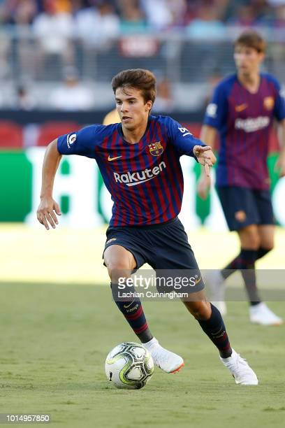 Ricky Puig of FC Barcelona runs with the ball during the International Champions Cup match against AC Milan at Levi's Stadium on August 4 2018 in...
