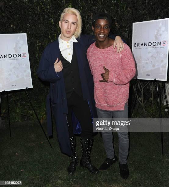Ricky Rebel and Shaka Smith arrive for Viacom's Brandon TV Christmas Gala And Studio Launch held on December 20 2019 in Burbank California