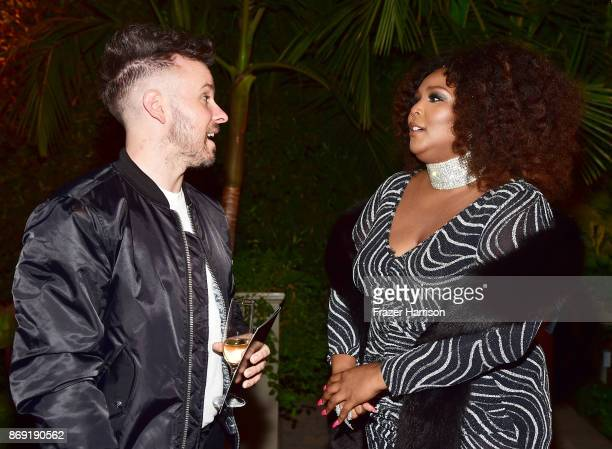 Ricky Reed and host Lizzo attend Spotify's Inaugural Secret Genius Awards hosted by Lizzo at Vibiana on November 1 2017 in Los Angeles California