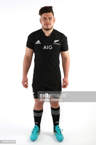 Ricky Riccitelli poses during a New Zealand All Blacks headshots session on June 20 2018 in Auckland New Zealand