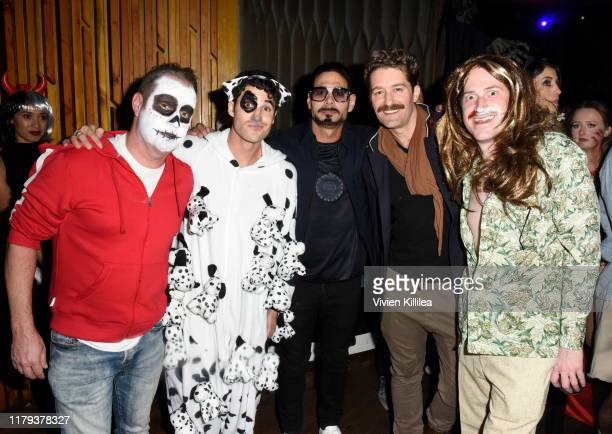 Ricky Rollins Darren Criss Eric Podwall Matthew Morrison and Joe Mazzello attend Podwall Entertainment's 10th Annual Halloween Party presented by...