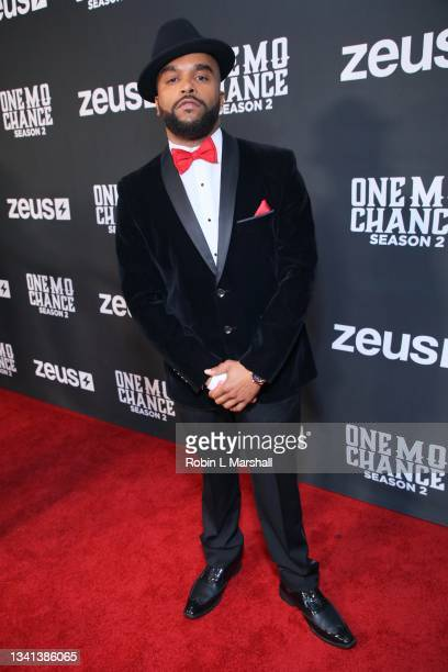 """Ricky Romance attends Zeus Network's """"One Mo Chance"""" Season 2 Premiere at AMC Universal at City Walk on September 19, 2021 in Universal City,..."""