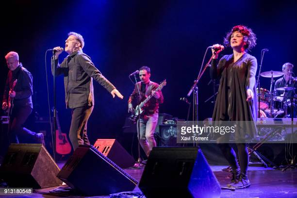Ricky Ross and Lorraine McIntosh of Deacon Blue perform in concert at sala Barts during Guitar BCN 2018 on February 1 2018 in Barcelona Spain