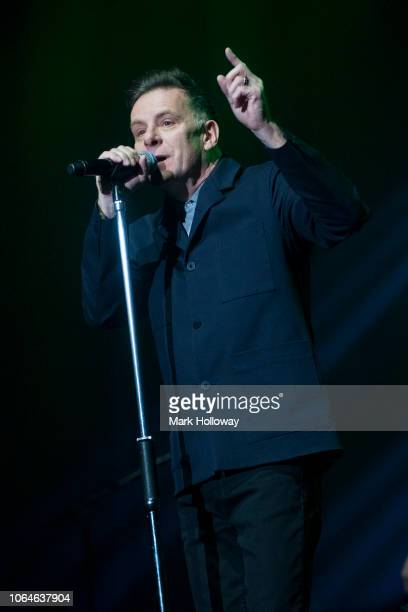 Ricky Ross of Deacon Blue performing on stage at BIC Bournemouth on November 22 2018 in Bournemouth England