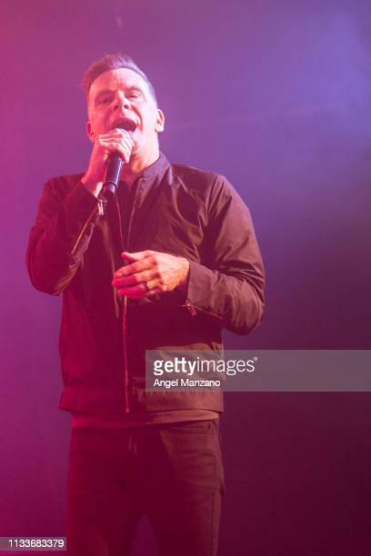 Ricky Ross of Deacon Blue performing on stage at La Riviera on March 04 2019 in Madrid Spain