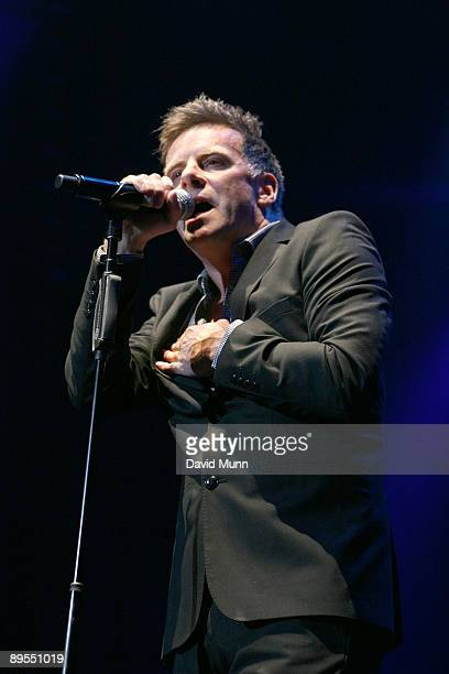 Ricky Ross of Deacon Blue performs at The Liverpool Echo Arena on July 31 2009 in Liverpool England