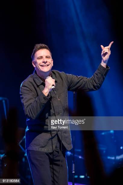 Ricky Ross of Deacon Blue performs in concert at sala Barts during Guitar BCN 2018 on February 1 2018 in Barcelona Spain