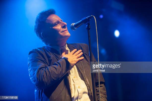 Ricky Ross of Deacon Blue performs on stage at Sala Apolo on March 06 2019 in Barcelona Spain